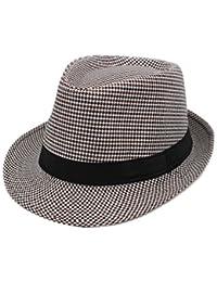 Sombreros para Hombres y Mujeres Sombrero del Verano sección Delgada Sombrero  del Jazz de 220b4e4041f