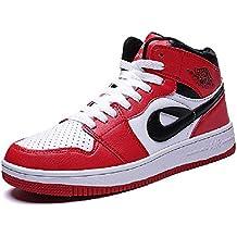 e746b000bfac0 SHANGWU Zapatos Deportivos de Viento Casual para Hombres Zapatos de Chicago  Air Force No. 1 Hip Hop Sra. Zapatos de Alta absorción de Golpes Zapatillas  de ...
