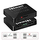 TESmart Splitter HDMI Ultra HD - Supporto Hub Box Switcher 1x2 4kx2K @ 30HZ 1080P 3D 2160p per Lettore DVD/TV Box / PS3 / 4 Xbox