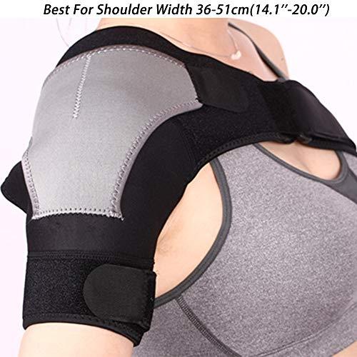 Soldmore7 Verstellbare Schulterbandage, leicht, für Fitnessstudio, Sport, Therapie, Neopren, Right, Free Size