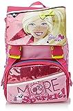 Barbie - Sparkle School Pack Zaino Scuola Espandibile con Gadget E Astuccio, Bambina, Rosa, 28 Litri