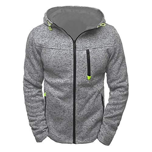 Cooljun Herren Sport Zipper Sweater Fleece Cardigan Kapuzenjacke, Männer Hoody Zipper Slim Hoodies Sweatshirts Pullover Mantel