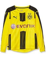 Puma Kinder Bvb Long Sleeve Home Replica Shirt with Sponsor Logo Trikot, Gelb