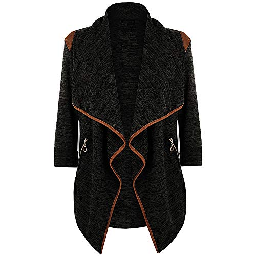 NPRADLA Womens Knitted Casual Long Sleeve Tops Cardigan Jacket Outwear Plus Size