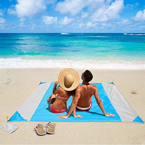 Maverick Europe Strandmatte, Picknickdecke, wasserdicht, groß und leicht zu tragen, 210 x 200 cm Strandmatte für Aktivitäten im Freien und im Freien. Outdoor-Campingplane