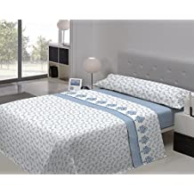 Juego sábanas sedalina OSAKA Pierre Cardin. Cama de 90 cm. Color Azul - Sedalinne