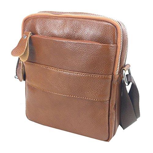 Yy.f Uomini Affari Borsa A Tracolla In Pelle Uomini Borsa Messenger Bag Versione Verticale Business Casual Uomo Borsa Borsa Con Cerniera 2 Colori A