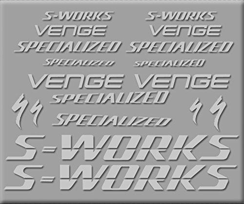 5 Zoll Vinyl Decal (Ecoshirt E6-KL9W-Y67U D Aufkleber S-Works Sworks Venge R278 Vinyl Adesivi Decal Aufkleber 2/3/5
