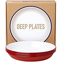 Falcon Deep Plates - Red by Falcon Enamelware