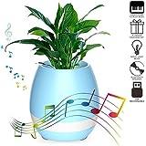 Lambent Flower Pot Bluetooth Speaker- Blue