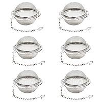 Fu Store 6pcs Stainless Steel Mesh Tea Ball Strainers Tea Strainers Filters Tea Interval