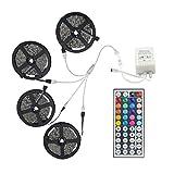 20m LED RGB Band Lichtsets 600 LEDs 5050 SMD mit Fernbedienungskontrolle Schneidbar bblendbar Verbindbar Selbstklebend Farbwechsel IP44 für Dekoration