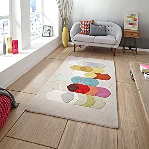 Inaluxe Coda II Wool Blend Hand Tufted Designer Rug, Multi, 120 x 170 Cm by Inaluxe