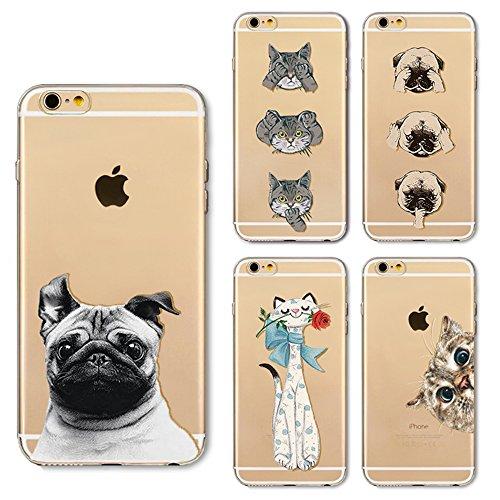 iPhone 5S Housse Silicone, boomteck trasparente Protecteur Bumper Coque pour 4.0Apple iPhone 5/iPhone se/iPhone 5S MINCE sottile en cristal clear tpu gel couverture shock-absorción flessibile Patron 16