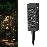VNEIRW Solarlaterne für außen, Dekorative Solarlampe Garten Laterne,LED Solar Laterne Dekolampe für Draussen Lichtsteuerung, ON/OFF für Garten Terrasse Deck Hof (B)