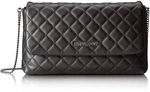 Love Moschino Borsa Metallic Nappa Pu Nero - Borse a spalla Donna, (Black), 5x15x27 cm (B x H T)