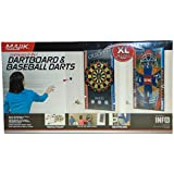 Majik Majik Oversized 2 In 1 Dartboard And Baseball Darts XL Double Sided Target Mat Gift Set Gift Toy For Boys And Girls