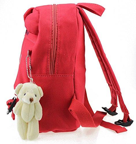 Imagen de  infantil camping guarderia escuela viaje saco perro oso animales mascotas viaje rojo niña alternativa