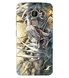 ColourCraft Hunting Dragon Design Back Case Cover for LeEco Le 2