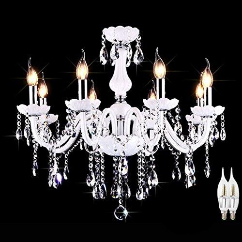*lampada a sospensione moderna illuminazione a cristallo a bracci, 3 luci, lampadario a candela moderna (size : 8 lights/70 * 60cm)