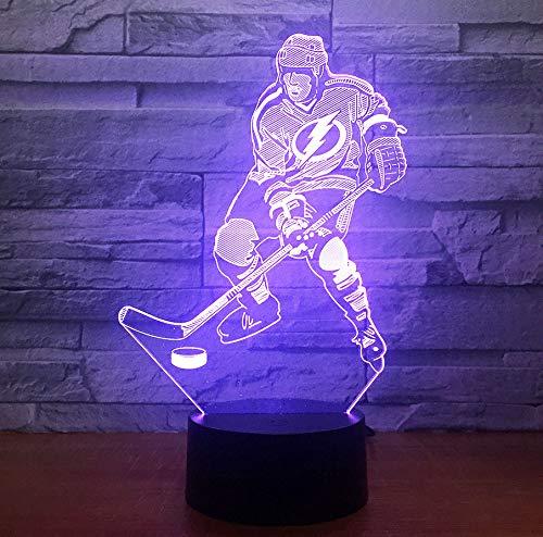 Ice Hockey Game 3D 7 Farbe Lampe Visuelle Led Nachtlichter Für Kinder Touch Usb Tabelle