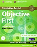 Objective First for Spanish Speakers Self-Study Pack (Student's Book with Answers, Class CDs (3)) by Annette Capel (24-Jul-2014) Paperback