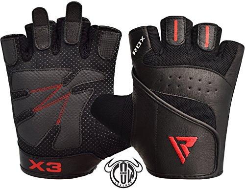 RDX Guantes Gimnasio Fitness Culturismo Musculacion Gym Levantamiento de Pesas Entrenamiento Halterofilia Deportivos Powerlifting Antideslizante Workout Weightlifting Gloves