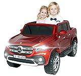 Actionbikes Motors Kinder Elektroauto Mercedes Benz X-Klasse - Lizenziert - 4 x 45 Watt Motor - Multimedia-Touchscreen - Kinderauto (Weinrot Lackiert)