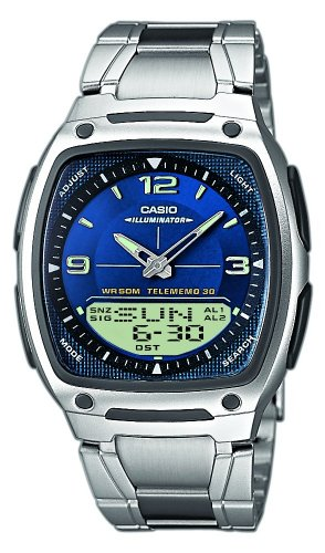 Casio Collection Herren-Armbanduhr Analog / Digital Quarz AW-81D-2AVES (Casio Classic Analog Uhr)