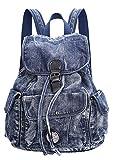 SAIERLONG BsBP Damen College-Art Blau Denim Fashion Urlaubsreisen Rucksack Schul