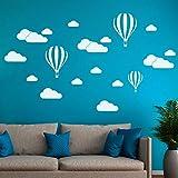 Wandaufkleber, erthome DIY Große Wolken Ballon Wandtattoos Kinder zimmer Kunst Dekoration