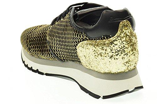 VOILE BLANCHE donna sneakers basse MARIETTE JO nero-oro Nero-Oro