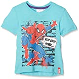 Sun City FR - Amazing Spiderman - T-Shirt - Garçon - Bleu (Turquoise) - 6 Ans (Taille Fabricant: 116 cm)