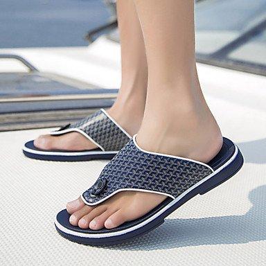 Sommer Sandalen Herrenschuhe legere Leder Hausschuhe / Flip-Flops Schwarz/Blau/Weiß Schwarz