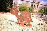 Freundliche Schildkröte - 20cm/Bodenplatte: Wunderschöne Gartenfigur zu verwenden als Garten Deko, im Blumenkasten auf dem Balkon oder als Dekoration auf Ihrer Terrasse oder in der Wohnung - Dekoidee von Manufakt-Design