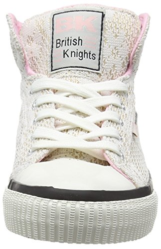 British Knights Dee Damen Hohe Sneakers Weiß (Champagne-White-Soft Pink 04)