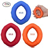 Yooap Hand Strengthener Grip Rings,Silicone Hand Strengthener Grip Rings-Multiple different resistance levels-Resistance Strength Trainer Exerciser