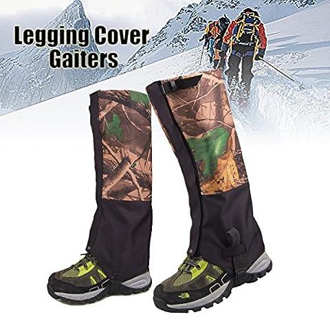 Inovey 1 Paire Camouflage Imperméable À L'Eau En Plein Air Escalade Randonnées Neige Guêtres Jambe Couvre Botte Legging Wrap