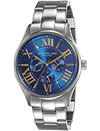 Stührling Original 391G.03 - Reloj analógico para hombre, correa de acero inoxidable, color plateado