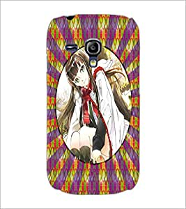 PrintDhaba Beautiful Girl D-3267 Back Case Cover for SAMSUNG GALAXY S3 MINI (Multi-Coloured)