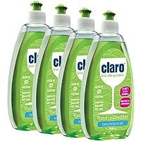 Claro 4x 500ml de liquide vaisselle liquide de main Écologique, grande dégraissant Bio & réduction Bar