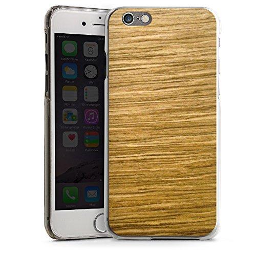 Apple iPhone 6 Housse Étui Silicone Coque Protection Look bois Chêne Grain CasDur transparent