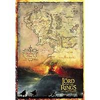 Empire 15853 - Póster de mapa de película El Señor de los Anillos 2 (70 x 100 cm)