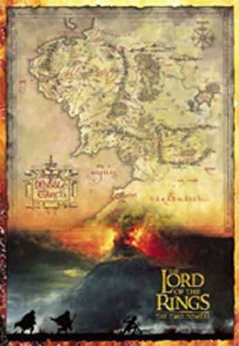 Empire 15853 - Póster Mapa película El Señor Anillos