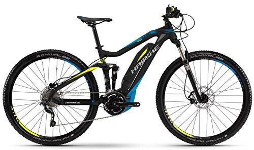 E-Bike Haibike SDURO FullNine RC 400Wh/250Watt/36V 29' 20-Gang schwarz/cyan/lime matt