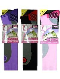 3 Pairs Ladies High Performance Thermal Ski Hiking Socks Size UK 4-7 (EUR 35-41)