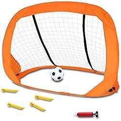 Juguetes de Puerta de Fútbol Juegos de Futbol Mini Balompié Bomba de Balón de Fútbol Juguetes Playset para Exteriores para Niños y Niñas 3+
