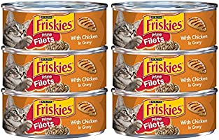 Purina Friskies Prime Filets With Chicken in Gravy Adult Wet Cat Food 5.5 oz. (6 Cans)