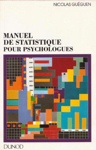 Manuel de statistique pour psychologues