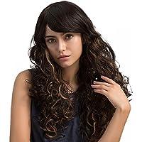 PerGrate - Peluca de pelo sintético para mujer, sexy, larga, ondulada, rizada